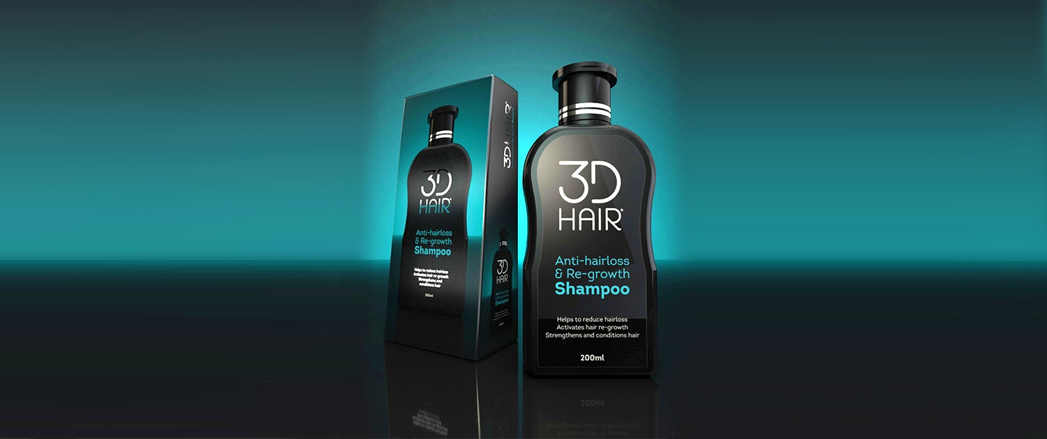 3D Hair Shampoo for anti hair loss and regrowth